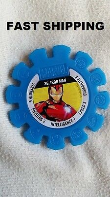 Woolworths Woolies Marvel Heroes Collectable Super Disc Number: 36 IRON MAN RARE
