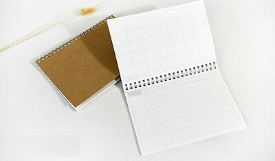 New B6 Coil Kraft Cover White Month Calendar Planner Schedule Journal Diary Book