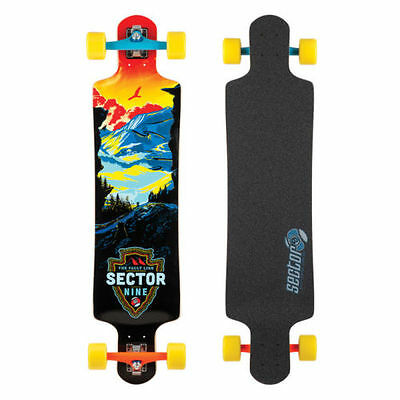 "*NEW* Sector 9 Faultline Red 39.5"" Complete Longboard Skateboard Drop []"