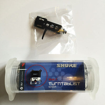 Shure M44-7 Record Cartridge & Stylus  Black Headshell