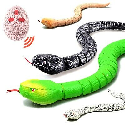 Remote Control Wireless Prank Snake Toy Infrared RC Rattlersnake Toys Realistic