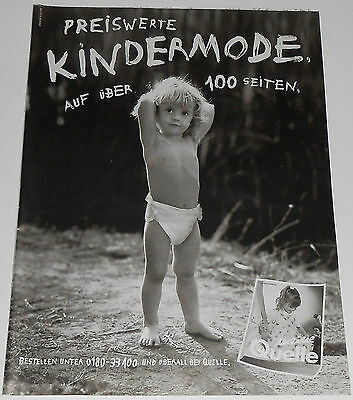 1996 vintage print - TODDLER WEARING BABY DIAPER - GERMANY 1-PAGE AD Bedwetting
