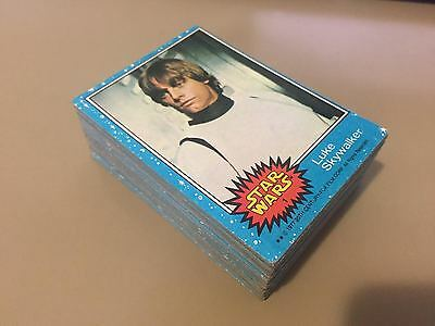 Star Wars - Series 1 (BLUE) - Trading Card Set (66) - 1977 Topps - EX/NM