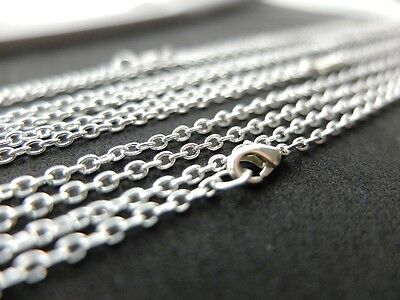 10 Silver Necklaces 80cm Without nickel Link chain 2x3mm finished prefabricated