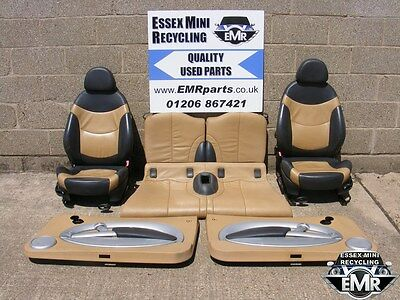 Bmw Mini Cabrio R52 Cooper 2004 Front And Rear Seats With Door Cards