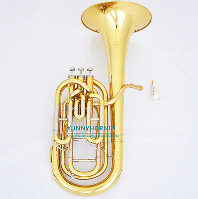 QUALITY ! Pro Baritone Horn with Compensating system Tenor Bb HORN Case