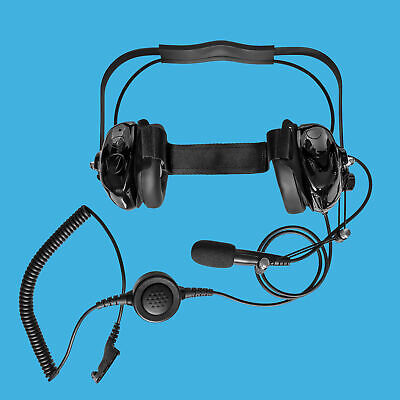 Behind The Head Headset for Motorola XPR-4500 XPR-6000 XPR-6100 XPR-6300//6350