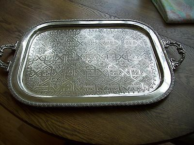 Vintage Traditional Moroccan Tea Tray with handles Large