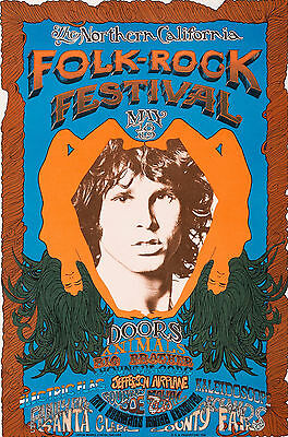 Doors Jefferson Airplane Animals Big Brother Concert 1968 Festival 20x30 POSTER
