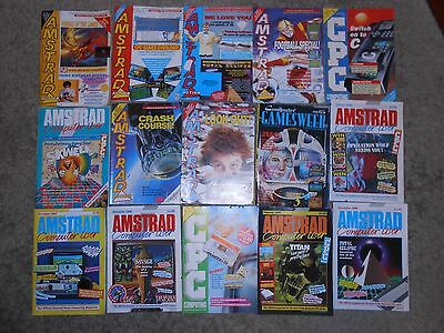 Amstrad action magazine bulk lot of 15 magazines for cpc 464, 664 and 6128