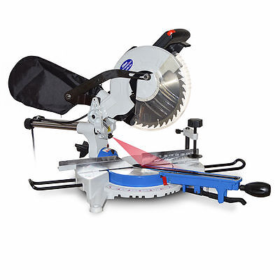 """MACAllister 250mm 10"""", 1800W Motor Sliding Mitre Saw with double Laserline"""