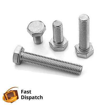 A2 M6 M8 Fully Threaded Hexagon Bolt Screw Stainless Steel DIN933