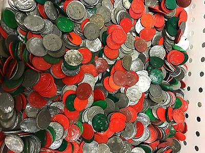 VTG 1000's (10 lbs) LARGE LOT OF MIXED MISSOURI SALES TAX TOKENS - Mostly Metal