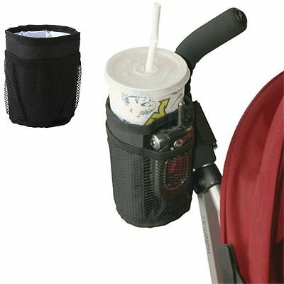 Black Waterproof Buggy Organizer Essential Cup Holder Stroller Bottle Bag