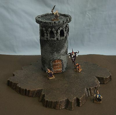 WARGAME Terrain Scenery Medieval TOWER SET#3 Hand-Crafted Warhammer LOTR Fantasy