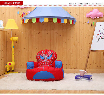 Prefilled Top Quality Spiderman Children Bean Bag Kids Beanbag Chair - UK Seller