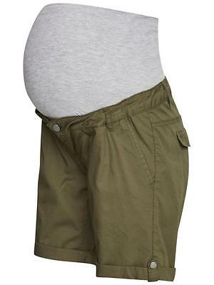 Woven Cotton Khaki Green Maternity Summer Pregnancy Shorts By Mamalicious SALE