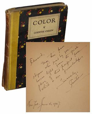 Countee Cullen Color INSCRIBED To Gay Lover LGBT SIGNED W.E.B. DuBois