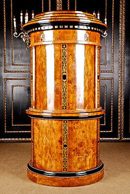 Unique Secretary Cylinder Cry Table Maple Root Veneer Viennese Biedermeier St
