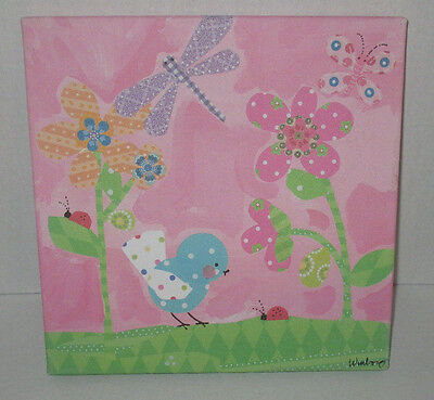 """Oopsy Daisy Too Fine Art for Kids - Pretty Pink Flower 10"""" x 10"""""""