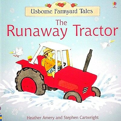 The Runaway Tractor CHILDREN'S story picture book NEW Usborne Farmyard Tales
