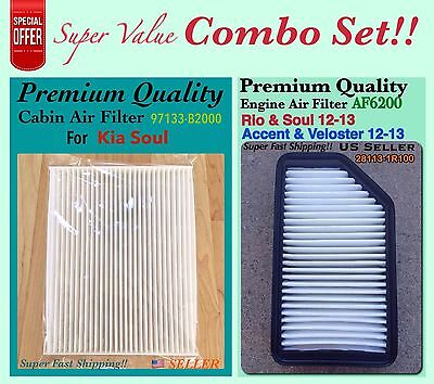 Combo Set Engine And Cabin Air Filter For Kia Soul 2014-2017 OEM 97133-B2000