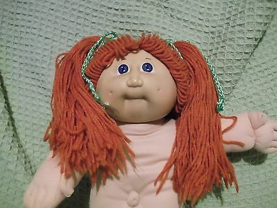 Red Hair Green eyes 1982 Cabbage Patch Doll  Applachian Artworks - hair re-done