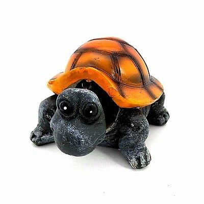 Bobble Head Turtle Orange Gray Tortoise Statue Figurine B