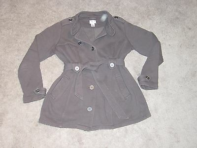 Women's Motherhood Maternity Button Belted Jacket Size M Light for Spring/Fall