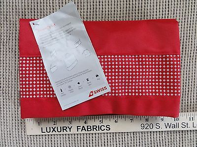 Swiss Air Business Class Modular Collection Amenity Kit avion trusse Red w snap