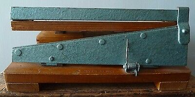 Vintage Wood & Metal Guillotine by Merretts - Patent no. 123967 - Paper Cutter