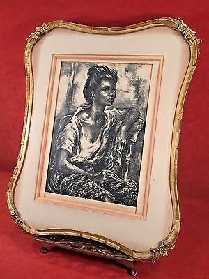 MISSISSIPPI GIRL Rare Signed Lithograph MARION GREENWOOD Framed Black Americana