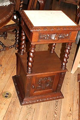 Beautiful Louis XIII Antique French Oak Nightstand / Side Table