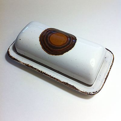 Vint Mid Century Modern Midwinter Pottery Stonehenge Earth Covered Butter Dish