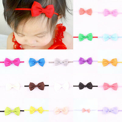 Headband Bowknot Headwear Kid Newborn Cute Accessories Toddler Girl Baby