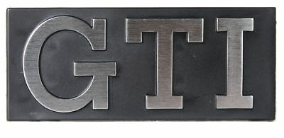 """MK1 GOLF CABRIO Grille Badge, """"GTI"""" with Silver text, Mk1 Golf - 171853679"""