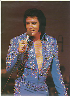 Elvis Presley In Blue Suit Small Rolled Las Vegas Poster Taken By Judy Palmer
