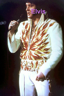 Elvis Presley In Flame Suit South Bend In Concert Tour 10/20/76 Candid Photo
