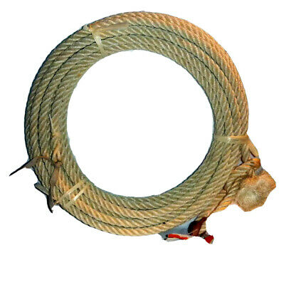 40 Ft Western Rodeo Rope Lasso - Lariat Riata Agave Maguey Straw From Mexico