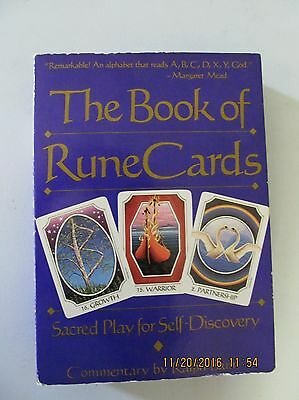 Vintage THE BOOK OF RUNE CARDS Box Set Book and Cards Ralph Blum  1989  3