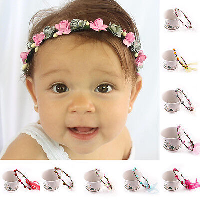 Kids Baby Girl Headwear Leaf Flower Headband Infant Newborn Hair Band Princess