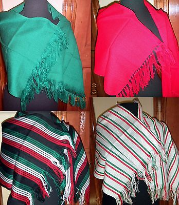 Girls One Size Many Colors Rebozo Wrap Shawl Mexican Manta Folklorico Fiesta