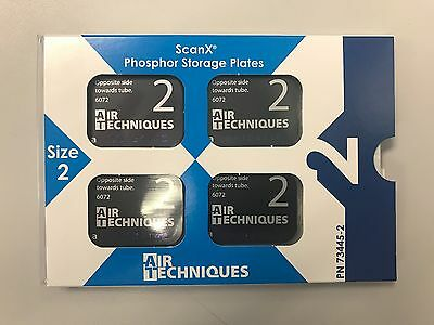 NEW Scan X Phosphor Storage Plate Intra oral PSP Size #2 Adult (4-Pack) #73445-2