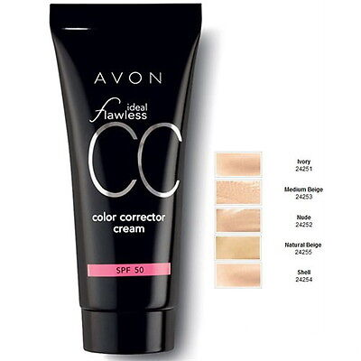 Avon Ideal Flawless CC Colour Corrector Cream Foundation Medium Beige or Shell
