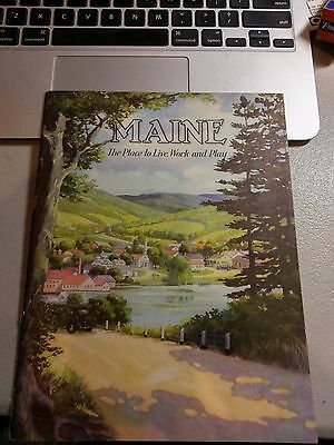Vintage Maine Promotional Travel Brochure  Lewis Barrows Governor  Nice!