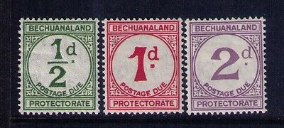 BECHUANALAND PROTECTORATE POSTAG DUE ESTAMPS SC# J 4-6 MH Cat.$25