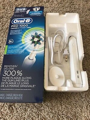Oral-B Black Pro 1000 Power Rechargeable Electric Toothbrush Braun Crossaction