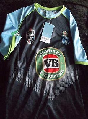 Australian Rl - Nrl  - New South Wales Mens Training T Shirt - Large - Bnwt