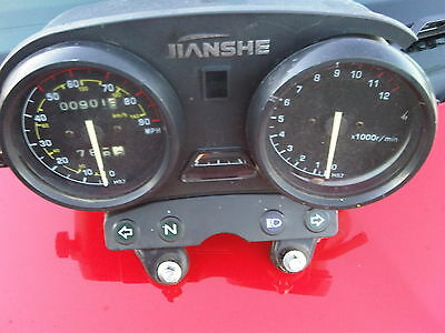AJS JS 125 E2 2012 154FMI Low Mileage Speedo with housing & damaged Rev Counter