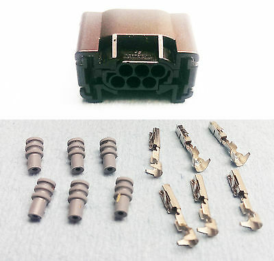 1 Connector w 6 Pins and 6 Seals for Bosch Electronic Throttle Body